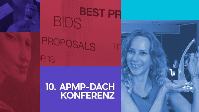 Video-Thumbnail der Image-Doku: Bildkachel mit Impressionen des Events + Typo '10. APMP DACH-Konferenz'