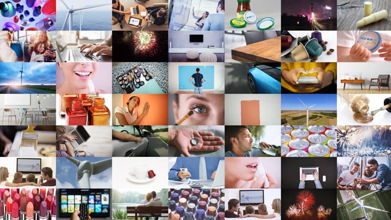 Video-Thumbnail des Imagefilms: Bildmosaik aus 49 Einzelbildern